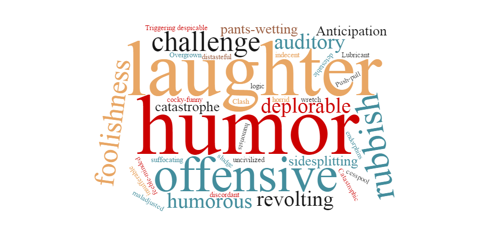 Comical Attraction Word Cloud